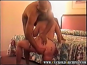 Cuckold MILF has her ass ripped BBC Sissy watches her moan