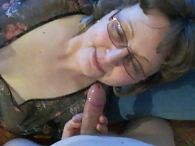 Mature Nina blowing