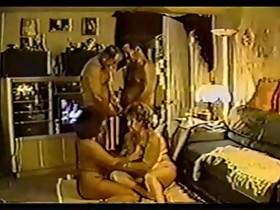 US retro homemade 2 couples. Bi men