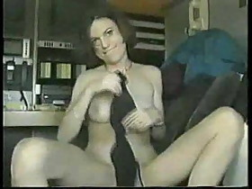 sexy older video from a swinnger couple playing wit himself