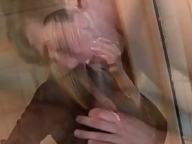Sexy wife gets of watching Husbands BBC cream pie