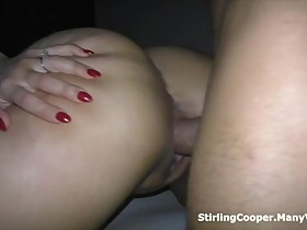 Big Booty Hot Wife makes you a Cuckold and Gets Cum all Over her Big Tits