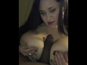 Gorgeous BBW wife sucks & titty fuck bbc