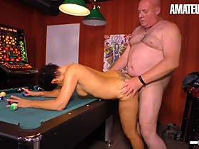 AmateurEuro - Mature German Wife Fucked By Stranger On The Pool Table