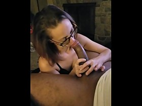 Petite wife fucks huge black cock while husband films
