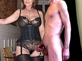 cuckold cum for mature busty wife in stockings