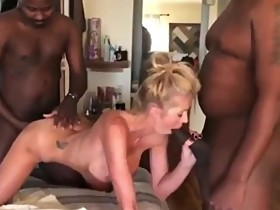 Husband films his naughty wife enjoying two BBC