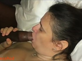 Homely BBW Wife Take BBC Stud in front of Husband.