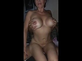 Husband shares his slutty and busty wife with his new boss