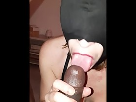 Masked cheating wife love blowjobs