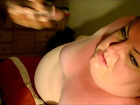 BBW Kristy Alley sucking her Bull while talking Cuck Husband